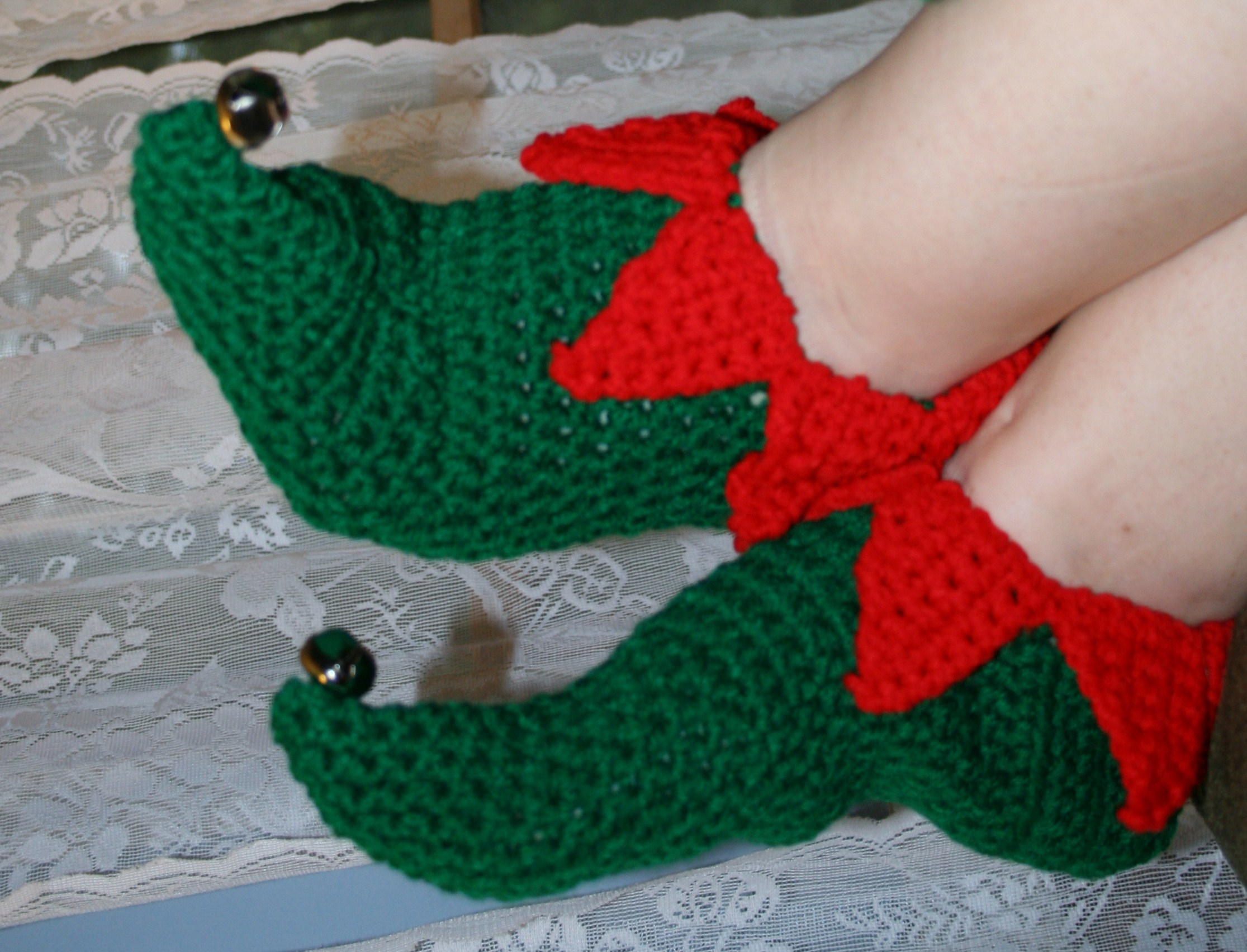Knitting Pattern For Elf Slippers : Patterns Linda Dean Crochet