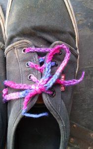 Crochet shoelaces www.lindadeancrochet.com