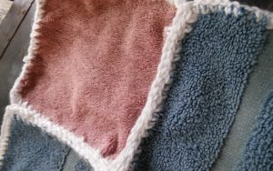Repurposed bath towel blanket. Www.lindadeancrochet.com