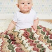 Hourglass Waves Baby Afghan by Linda Dean www.lindadeancrochet.com